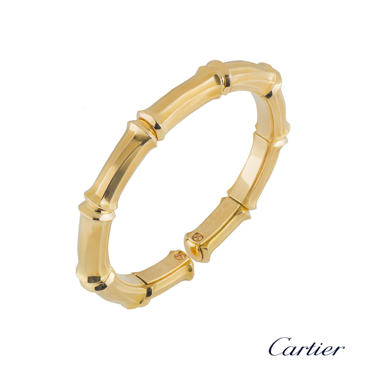 Cartier Yellow Gold Plain Bamboo Bangle